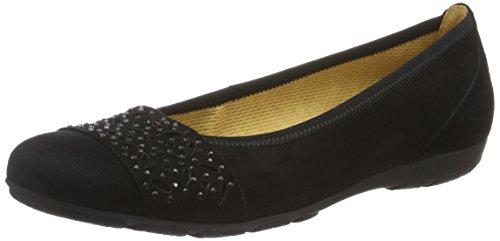 Gabor Shoes Fashion, Ballerines Femme, Noir (Schwarz 17), 36 EU