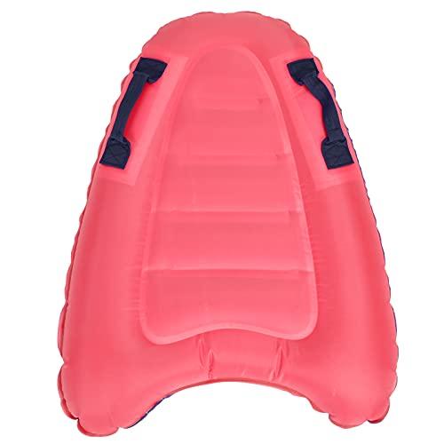 Dilwe Tabla de Surf Inflable portátil para el Cuerpo, Tabla de Surf Flotante de natación Ligera, Dispositivos de Alfombra Flotante para niños Tanto para niños como para Adultos(Rosado)