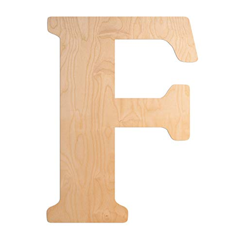 UNFINISHEDWOODCO 23-Inch Unfinished Wood Letter, Large, Letter F (300335)