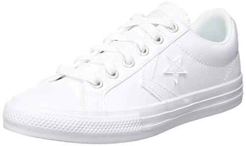 Converse Lifestyle Star Player Ev Ox, Zapatillas Unisex niños, Blanco (White/White/White 100), 34 EU