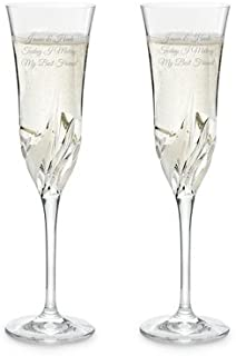 Things Remembered Personalized Cetona Toasting Flute Set with Engraving Included