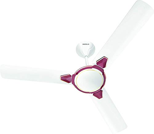 Havells EQUS 1200 MM Ceiling Fan (White Maroon)