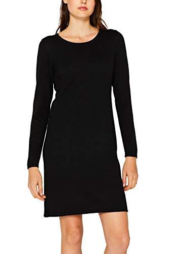 edc by ESPRIT Damen 999Cc1E800 Kleid, Schwarz (Black 001), Large (Herstellergröße: L)