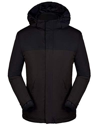 GL SUIT Heren 3 in 1 Down Waterdichte Jas Down Liner Dames Paar Koud Warm Jas Afneembare Hood Multi-Pockets Bovenkleding Winter Kleding voor Outdoor