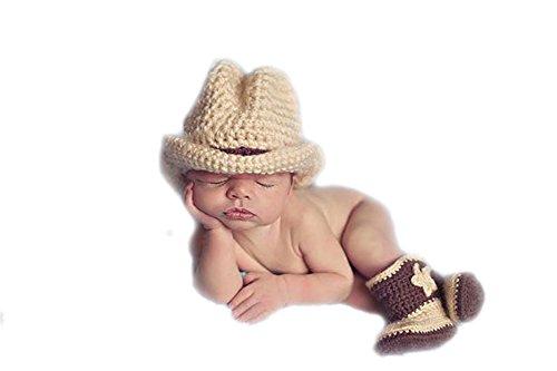 DELEY Del Bebé Sombrero de Vaquero Botas Trajes de Disfraces Infantil de Apoyo de la Fotografía