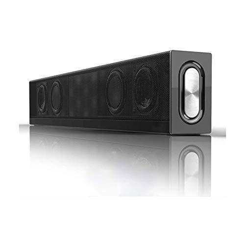 Bdesign Barra de Sonido para el hogar, con función Bluetooth, Sonido Envolvente de subwoofer Incorporado, a través de 3.5mm AUX USB Conexión, Adecuada para PC Video Game TV