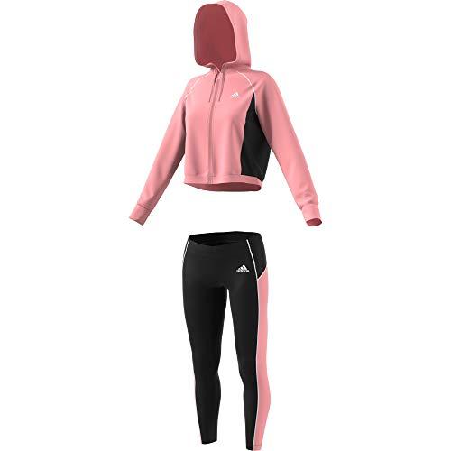 adidas Damen W TS Hd&Tght Tracksuit, Glory pink/Black/Glory pink, M
