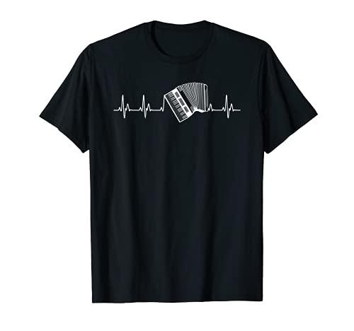 Music Is Life–Akkordeon Herzschlag Shirt