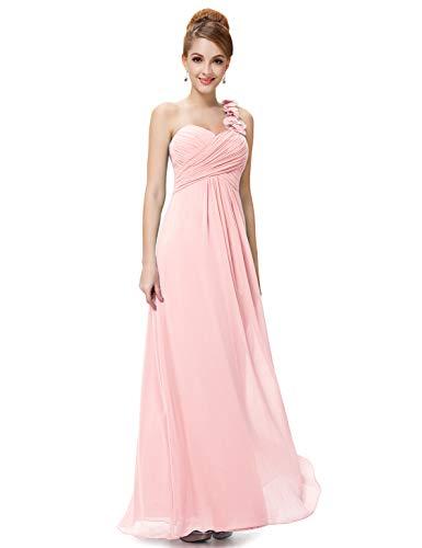 Ever-Pretty Juniors One Shoulder Empire Waist Long Prom Dress 10 US Pink