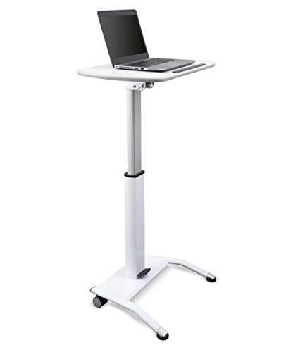 Stand Up Desk Store Pneumatic Adjustable-Height Lectern (White)