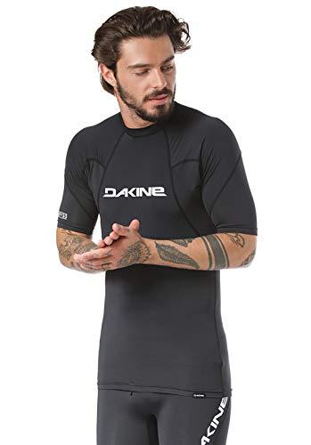 Dakine Mens Heavy Duty Snug Fit Rash Vest met korte mouwen Zwart - Lichtgewicht - 6,5 oz nauwsluitend surf shirt
