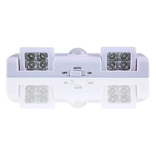 seiyishi 人感センサー 人感センサーライト LEDセンサーライト LEDライト 夜間ライト 防犯ライト センサーライト インテリアライト LEDが8個 人感と光センサー機能付き 自動点灯 自動消灯 室内/階段/廊下/キッチン/玄関/トイレ照明 取り