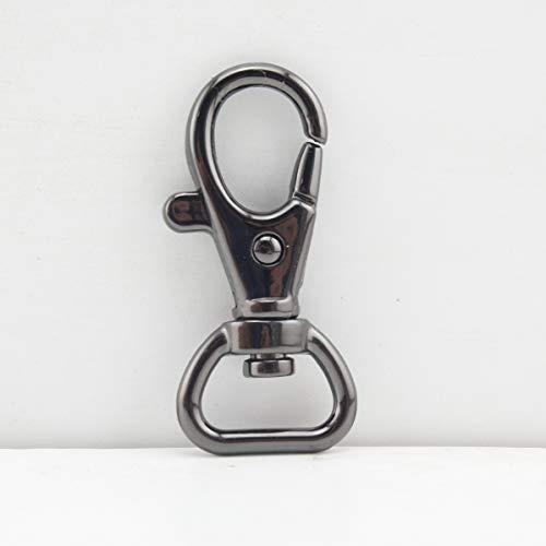 1/2 inch / 13 mm Zink Legierung Geldbörse Haken Schiebetür Karabinerhaken für Gurt Handtasche Tasche Schlüsselring DIY Handwerk gunmetal AC103