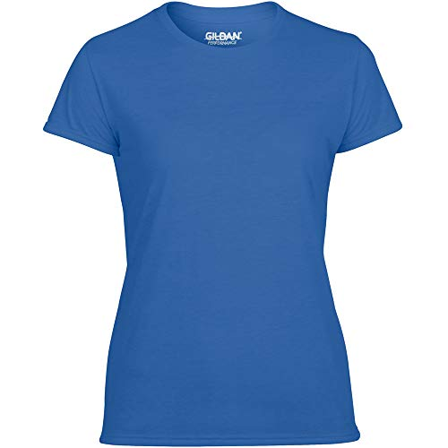 Gildan Dry Fit Women's Adult Performance Short Sleeve T-Shirt - Royal Blue Large