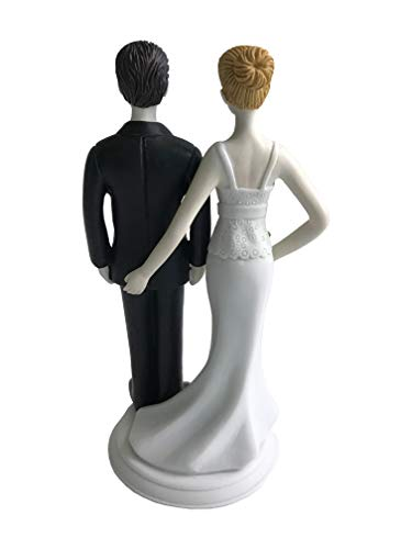 Loving Pinch Bridal Couple Figurine Wedding Cake Topper