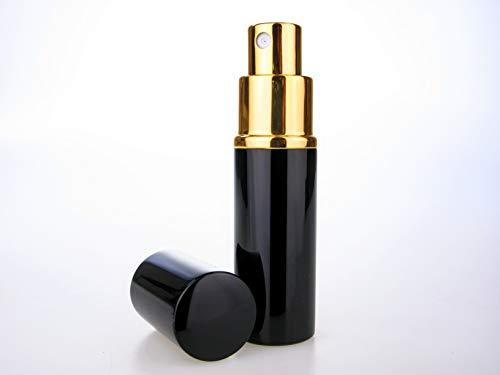 10ml Noir Parfum Fragrance Sac / Voyage atomiseur , Rechargeable , Avec Entonnoir .