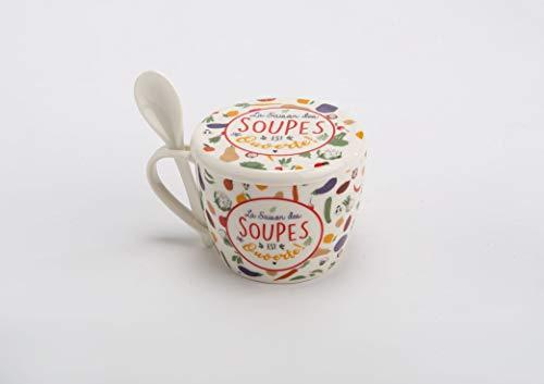 Amadeus 150789 Coffret Bol à Soupe LOUISON en Porcelaine 550ml
