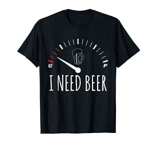 Funny Drinking I Need A Beer Meter T-Shirt