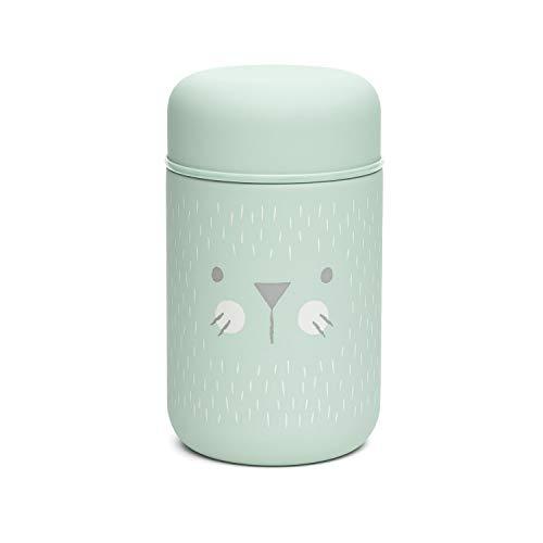 Suavinex - Termo Papillero Para Bebé Acero Inoxidable. Cierre Hermético, 400 ml Color Verde