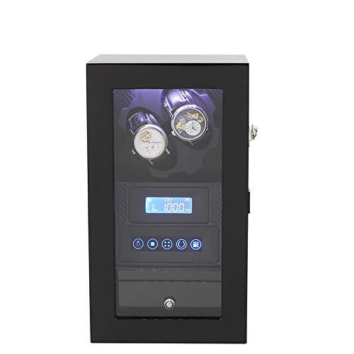 LiChaoWen Guarda Winder Meccanico Automatico Watch Winder Box a Batteria o Adattatore AC con 2 posti Winding (Color : Black, Size : One Size)