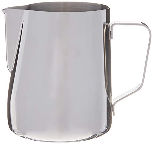 Rhino Pro Milk Pitcher 600ml/20 fl.oz - Stainless Steel Milk Frothing Jug Measuring Cup with Internal Markings for Coffee, Cappuccino, Barista, Espresso Making