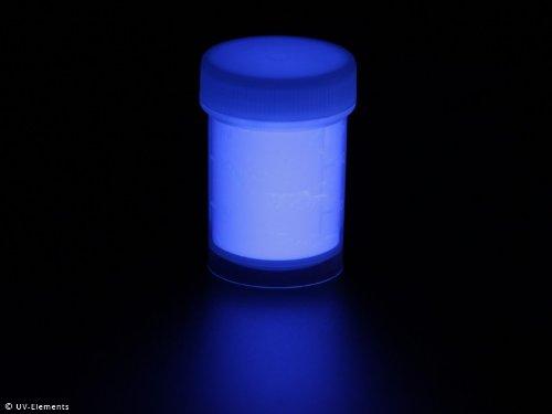 Unsichtbares Markierungspulver 15g - blau - Schwarzlicht, Farbpulver, UV, Neon