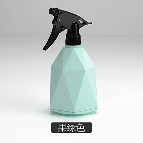 600ml Geometrische Ontwerp Leeg Nevelfles plastic gieter The Flowers Water Spray for Salon Plants Sproeiers Candy Kleur Hot (Color : Green)