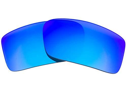 LenzFlip Lentes de repuesto compatibles con Oakley Gascan para hombre 59 Espejo azul