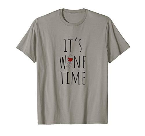 Es la hora del vino Cita divertida del vino Camiseta