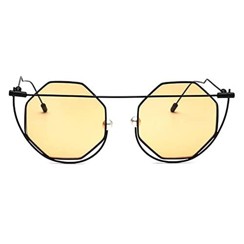 Sanzhileg Gafas de sol con montura metálica de moda para mujer de moda UV400, gafas protectoras para viajes al aire libre, gafas de sol para compras, gafas de sol