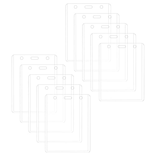 luminiu Porta Tarjetas De PVC, Protector De Tarjeta Portatarjetas con Etiqueta Impermeable - Soportes Transparentes para Etiquetas con Nombre, Llavero, Portatarjetas -
