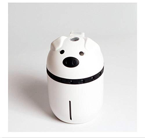 Luftbefeuchter 200Ml Süßes Schwein Mini Mist Usb Ultraschall Luftbefeuchter Ätherisches Öl Aroma Diffusor Mit Bunten Lichtern 150X90X90Mm