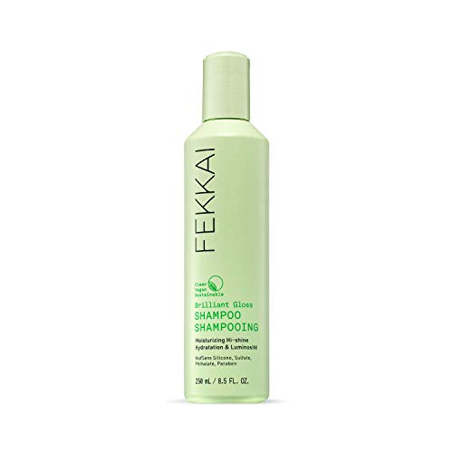 FEKKAI Brilliant Gloss Shampoo, Moisturizing Hi-Shine, Boost Gloss, Clean, Vegan, Sulfate Free, 8.5oz