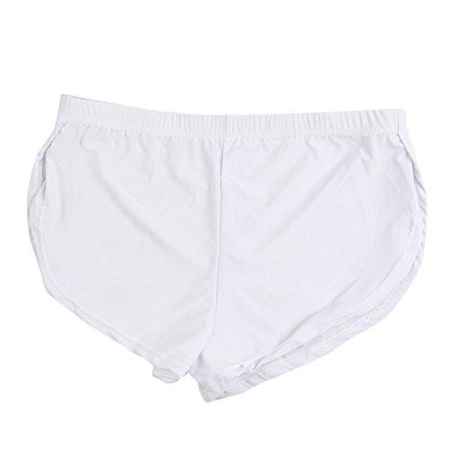 Meilily Höschen, Herrenmode Sporthose Shorts Bequemes Höschen mit niedriger Taille, Männer Sexy Unterwäsche Brief Pure Color Boxer Briefs Shorts Bulge Pouch Unterhose