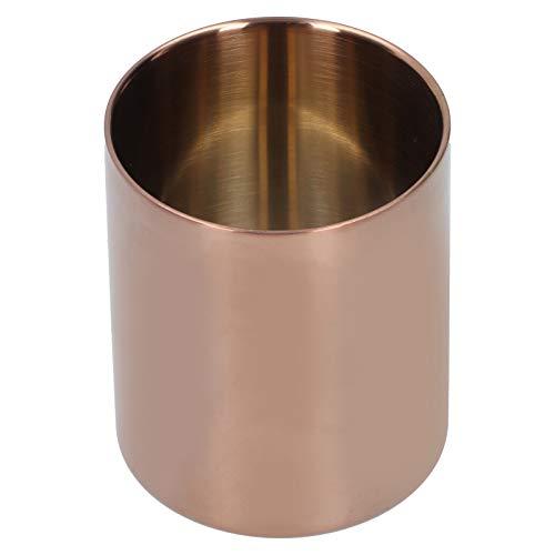 FOTABPYTI Recipiente de Almacenamiento, Duradera Taza de Almacenamiento de 400 ml, Acero Inoxidable para Oficina en casa, 8,3 x 10 cm, Oro Rosa