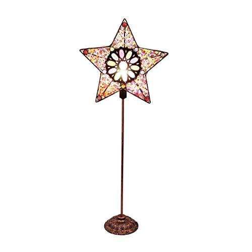 Verstelbare Vloerlamp Amerikaanse Smeedijzer Retro Oude Kleur Sterren Verticale Vloerlamp Hof Stijl voor Studie Woonkamer Slaapkamer Nachtlampje Thuis Verlichting
