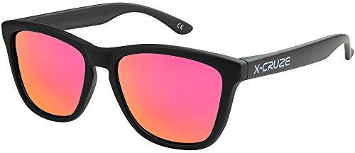 Pacco 2er X-CRUZE ® Bicicletta Occhiali Biker Occhiali Occhiali Occhiali da sole uomo donna rosso