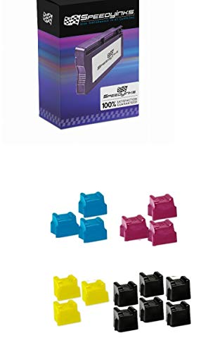 SPEEDYINKS Compatible Solid Ink Cartridge Sticks Replacement for Xerox Phaser 8560 (6 Black, 3 Cyan, 3 Magenta, 3 Yellow, 15-Pack)