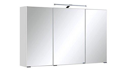 Held Möbel Spiegelschrank Cardiff Breite 100 cm, mit LED-Beleuchtung weiß