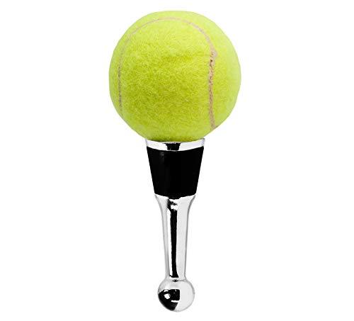 EDZARD Flaschenverschluss Tennis für Champagner, Wein und Sekt, Höhe 11 cm, Muranoglas-Art, Handarbeit