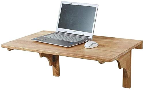 HJTLK Natural Pine Wood Wall-mounted Foldable Laptop Table Folding Dining Table for Small Spaces Home Office Computer Desk Save Space,Modern Simplicity