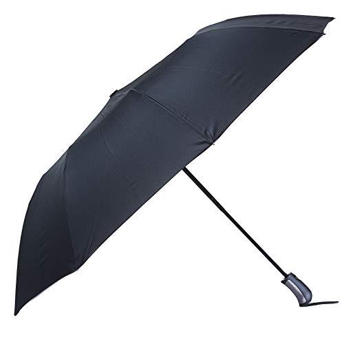 BOLERO Paraguas de lluvia plegable cortavientos y automático – Apertura automática para permitir su uso con unamanos – Topless-Golf de grandes dimensiones con correa de viaje
