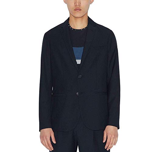 Armani Exchange Herren 2 Button, Comfort Fabric Blazer, Blau (DEEP Navy 1583), 44 (Herstellergröße:34)