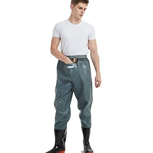 Vadeadores de Pesca Ligero Impermeable Pantalones Ropa para Hombres Mujeres con Botas Transpirable Cómodo Bib Pantalones Pesca Equipo Esencial,Blue,39