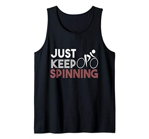 Just Keep Spinning Spin Class Workout Tank Top