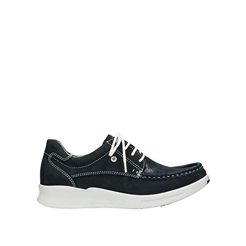 Wolky Comfort Sneakers One - 10870 blau-sommerliches Stretch Nubuk - 39