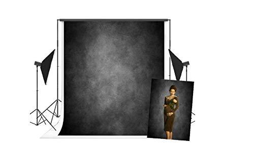 WaW Fotografie Studio Leinwand Hintergrund Stoff Abstrakt Holzkohle Grau Textur Grunge Wand Fotoshooting Kulisse Vintage Porträt 1.5x2.2m