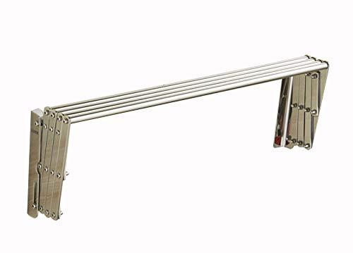 GXFWJD Toallero Adhesivo Juegos De Accesorios De Baño con Toallero Barra Acero Inoxidable Toallero Acordeón para Cocina Aseo Baño Exterior Fácil De Instalar (Color : Silver, Size : 45cm)