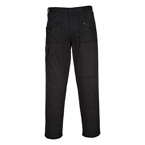 PORTWEST Pantalon de Travail poches genoux ACTION - Homme - 54 - Noir