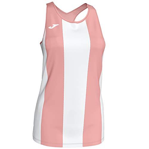 Joma Camiseta Aurora Blan-Rosa Tirantes Mesh Mujer Camiseta S/M, Mujer, Blanco-Rosa, S